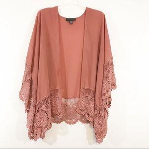 Forever 21 | Plus Size Lace Mauve Kimono Jacket